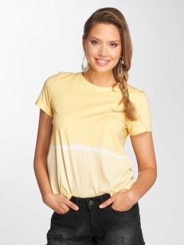 Noisy May t-shirt nmDavida geel