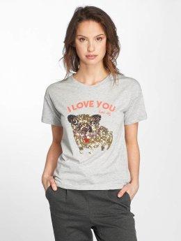 Noisy May Frauen T-Shirt nmAlfred in grau