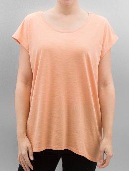 Noisy May T-Shirt nmMathilde Loose Long  orange