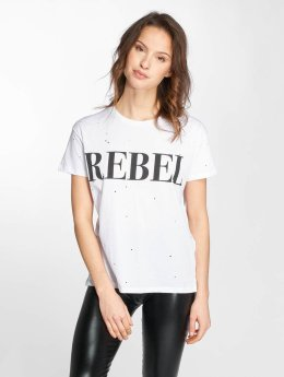 Noisy May T-Shirt nmCommand Rebel white