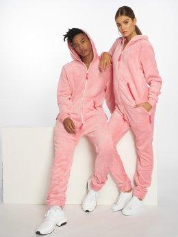 Onepiece Jumpsuit Teddy Hug pink
