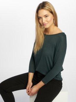 Only Пуловер onlElcos 4/5 Solid зеленый