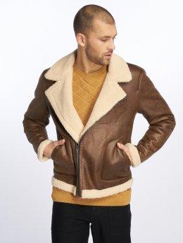 Only & Sons Демисезонная куртка onsBenno Pu Aviator коричневый