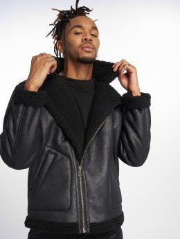 Only & Sons Демисезонная куртка onsBenno Pu Aviator черный