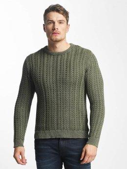 Only & Sons Пуловер onsHugo Washed Knit зеленый
