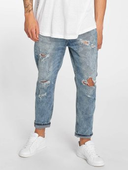 Only & Sons Jean large ons Beam Cropped Blue Damage bleu