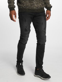 Only & Sons Jeans slim fit onsSpun Zip Biker nero