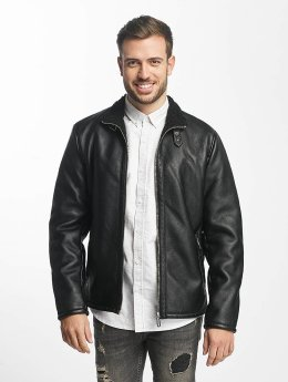 Only & Sons Leather Jacket onsFrans black