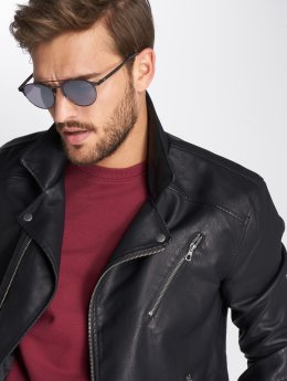 Only & Sons Leather Jacket onsSelger black