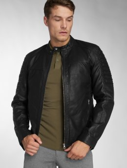 Only & Sons Lederjacke onsSacho Pu schwarz