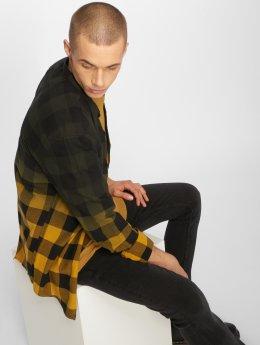 Only & Sons overhemd onsGudmund Dip Dye Mandarine bruin