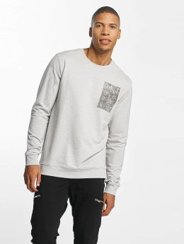 Only & Sons Pullover onsVill Rock Print grau