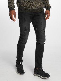 Only & Sons Skinny Jeans onsSpun Zip Biker czarny