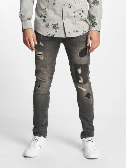 Only & Sons Slim Fit -farkut onsLoom Destroy Patch harmaa
