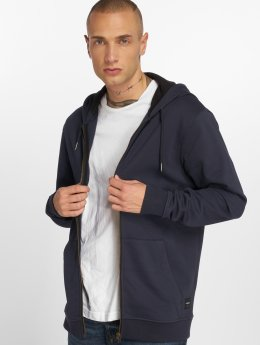 Only & Sons Sweat capuche zippé Onsbasic Brushed bleu