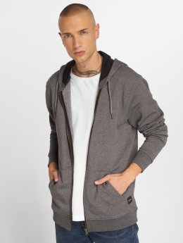 Only & Sons Sweat capuche zippé Onsbasic gris