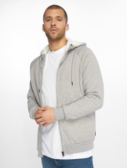 Only & Sons Sweat capuche zippé onsToby Teddy Regular gris