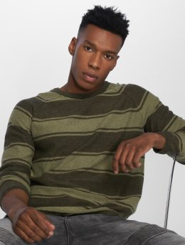 Only & Sons Swetry onsAlexo 12 Striped oliwkowy