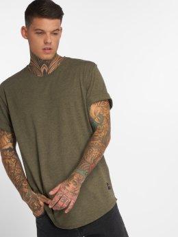 Only & Sons t-shirt Onsmatt Longy Melange olijfgroen