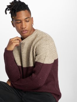Only & Sons Trøjer onsLazlo 3 Blocked Knit Regular rød