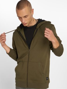 Only & Sons Zip Hoodie Onsbasic Brushed olivový