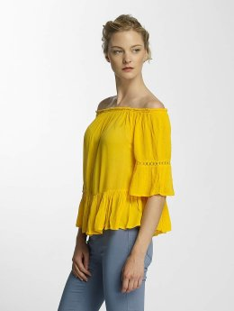 Only Bluse onlBingo Off Shoulder Peplum gelb