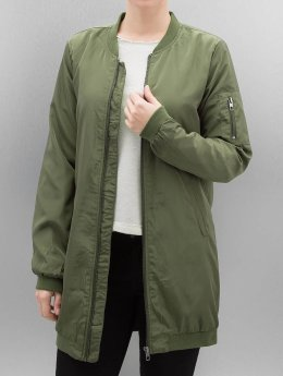Only Frauen Bomberjacke onlLinea Long in olive