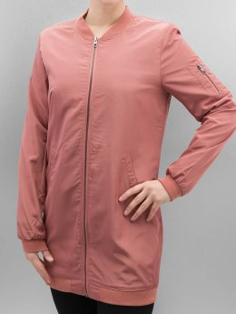 Only Frauen Bomberjacke onlLinea Long in rosa