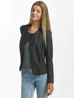 Only Chaqueta de cuero onlAva Faux Leather Biker gris