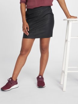 Only Falda onlBase Faux Leather negro