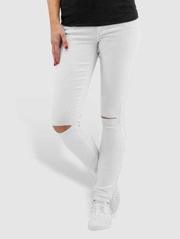 Only Jean skinny onlRoyal Regular Waist Skinny Kneecut blanc