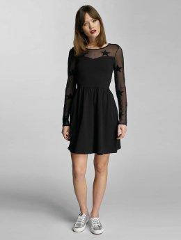 Only Frauen Kleid onlNiella Mesh Star in schwarz