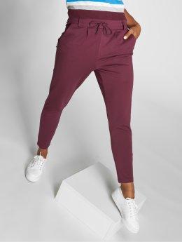 Only Látkové kalhoty onlPoptrash červený