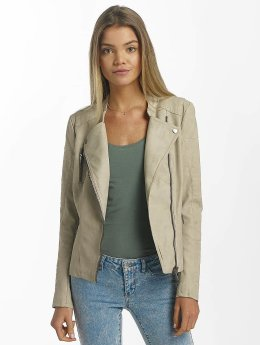 Only Lederjacke onlAva Faux Leather Biker beige