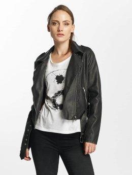 Only Lederjacke onlLuna Crop Faux Leather Biker schwarz