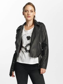 Only leren jas onlLuna Crop Faux Leather Biker zwart