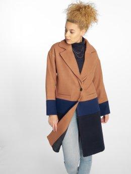 Only Manteau Long Blocked Wool brun