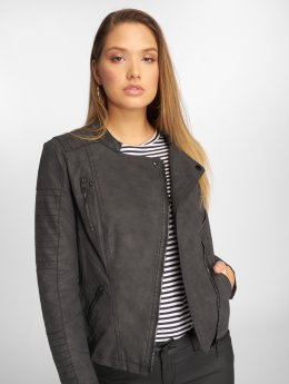 Only Nahkatakit onlAva Faux Leather Biker musta
