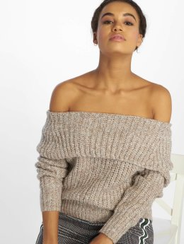 Only Pullover onlNew Fiona Off Shoulder beige