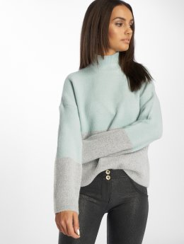 Only Pullover onlMette Colorblock blau