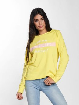 Only Pullover onlSophia Batwing Unbrushed gelb