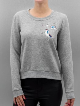 Only Pullover onlLove Me Unicorn grau