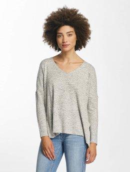 Only Pullover onlMaye V-Neck grau