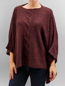 Only Frauen Pullover onlAustin Poncho in rot