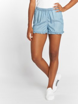 Only Short onlGigi Frill Lyocell Denim bleu