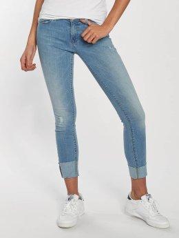 Only Frauen Skinny Jeans onlCarmen in blau