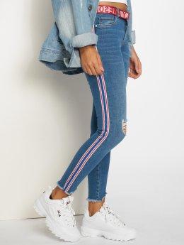 Only Skinny Jeans Onlcarmen Reg Sk Tape Ank Dnm Jnsbj12729 modrý