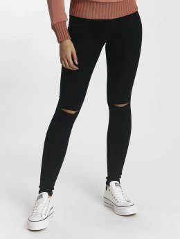 Only Frauen Skinny Jeans Royal Regular Kneecut in schwarz