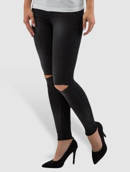 Only Frauen Skinny Jeans onlRoyal Regular Ankle in schwarz