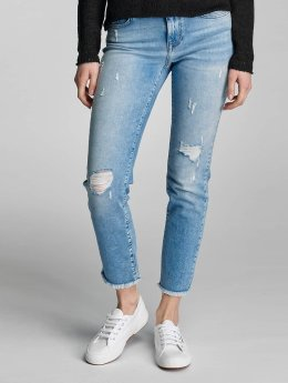 Only Frauen Slim Fit Jeans onlSui Regular Ankle in blau